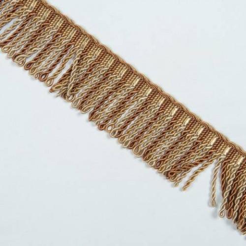 Бахрома спираль, карамель 6.5 см - 105616