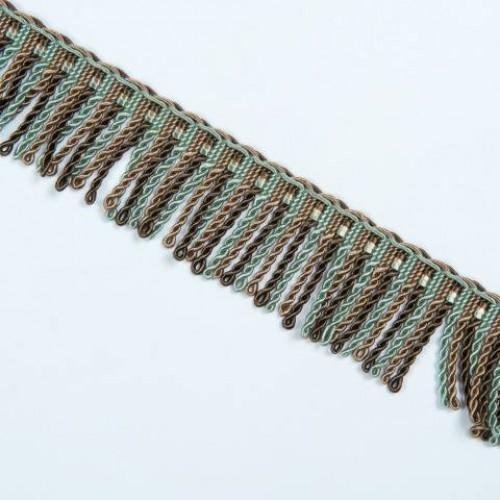 Бахрома спираль, коричн-бирюза 6.5 см - 105620