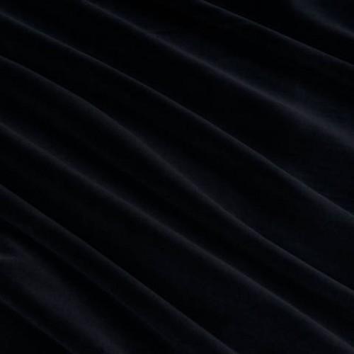 Велюр огнеупорная пропитка чёрный - 121018