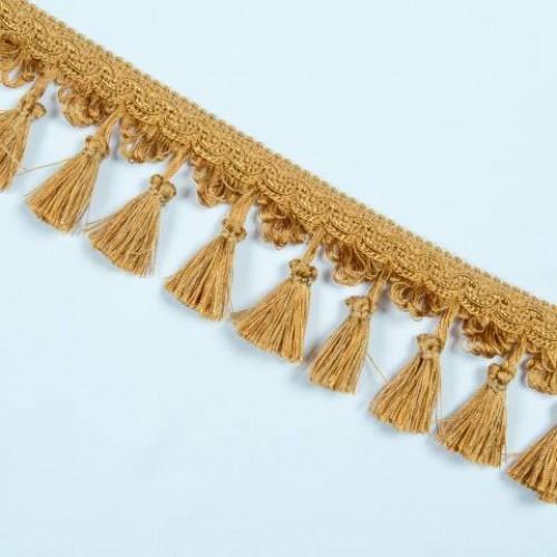 Бахрома кисточка, яркое золото 6.5см - 122694
