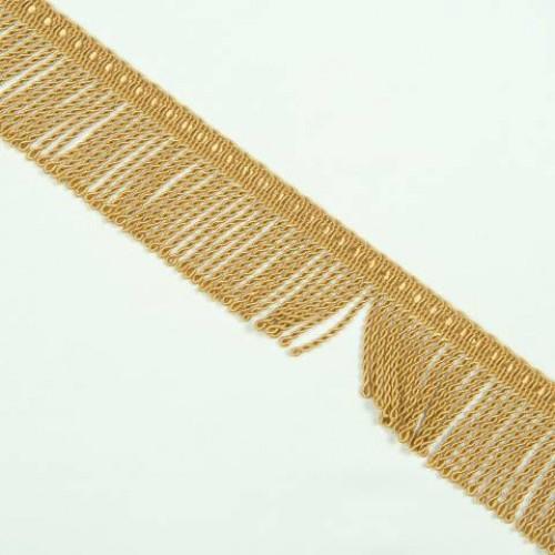 Бахрома спираль, т. золото 5 см - 122708