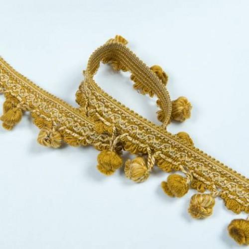 Бахрома кисточка, золото 6.5см - 133044