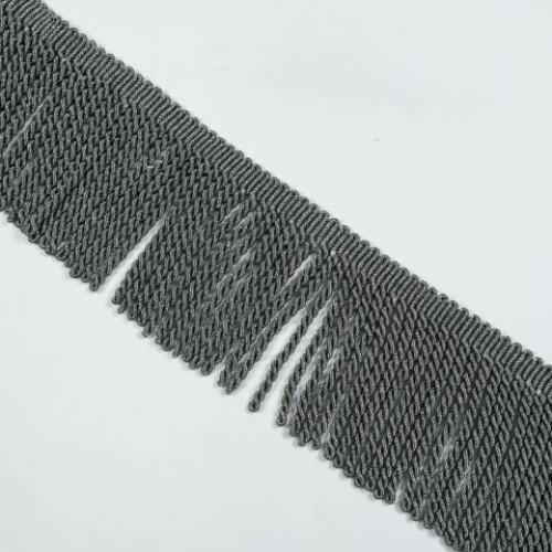 Бахрома голд спираль, т.серый 14см - 138068