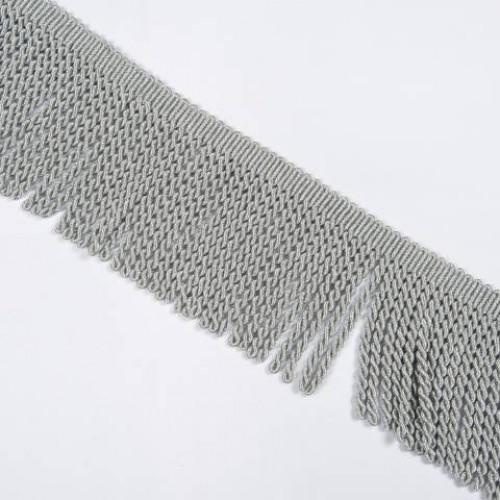 Бахрома голд спираль, св.серый 14см - 138072