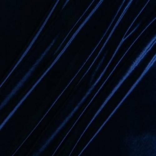 Бархат стрейч темно-синий - 143700
