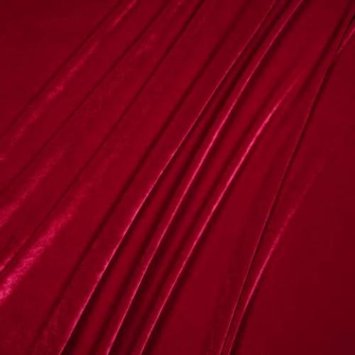 Бархат стрейч красный - 157590
