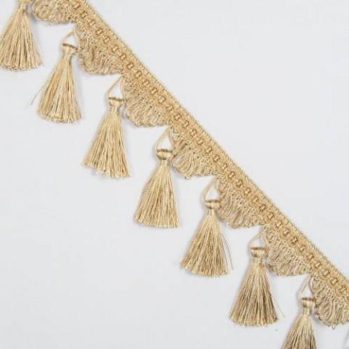 Бахрома кисточка, беж-золото - 167032