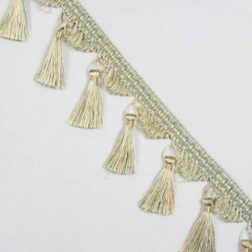 Бахрома кисточка, мята-золото - 167034