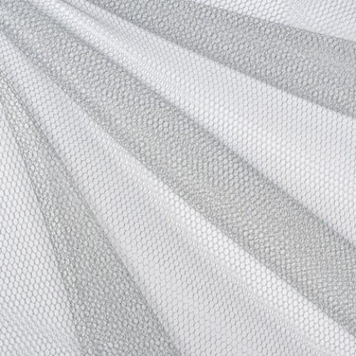 Декор сетка шестигранник крупный серебро - 172018