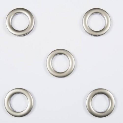 Люверсы круглые пластик матовый никель 36мм - 172190