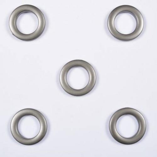 Люверсы круглые пластик чищенная сталь 36мм - 172282