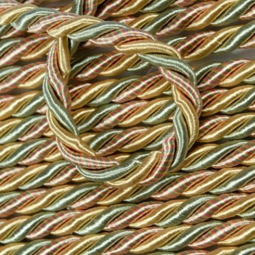 Шнур тонкий глянец.св.золото-оливка - 177676