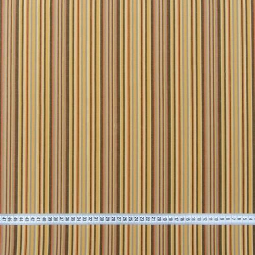 Дралон полоса терак/бежевый/коричневый тефлон