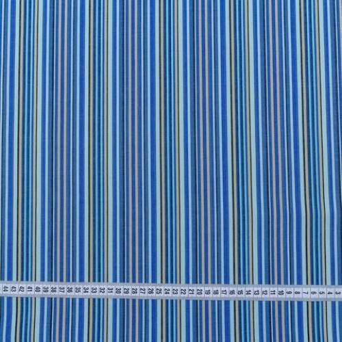 Дралон полоса синий/голубой/бежевый тефлон