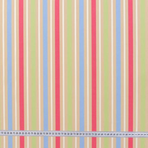 Дралон полоса голубой розовый салат тефлон - 188212