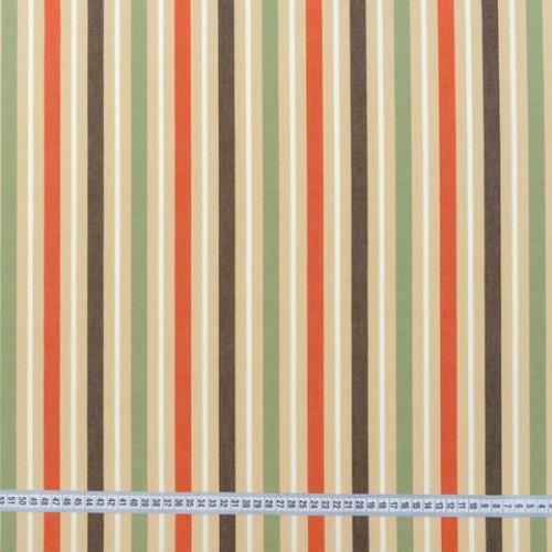 Дралон полоса терракот коричневый зелёный тефлон - 188214