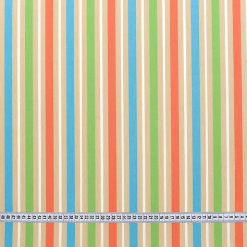 Дралон полоса салат оранжевый голубой тефлон - 188216