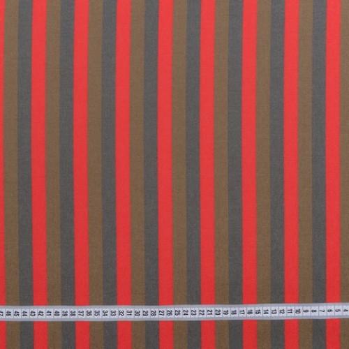 Дралон полоса красный табак серый тефлон - 188262