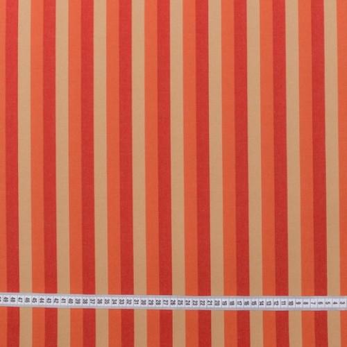 Дралон полоса терракот бежевый красный тефлон - 188264