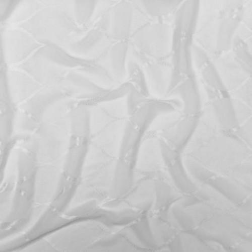 Кисея жаккард ромб-волна молочный - 193924