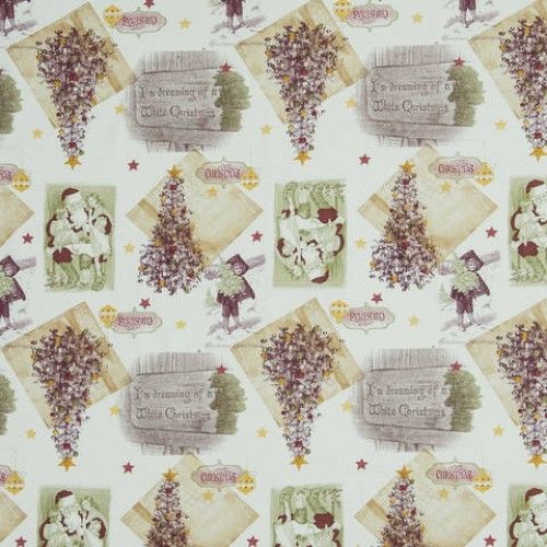 Декоративная новогодняя ткань - 214044