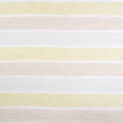 Натуральная гардина лен в полоску молочный-салатовый - 215306