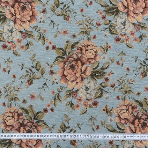 Шенилл-гобелен т.голубой розы - 229532