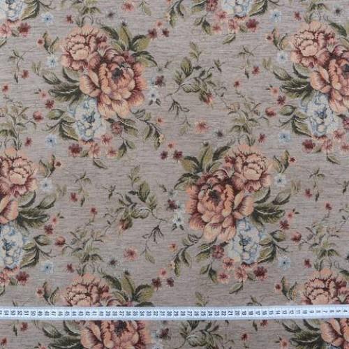 Шенилл-гобелен сизый розы - 229534