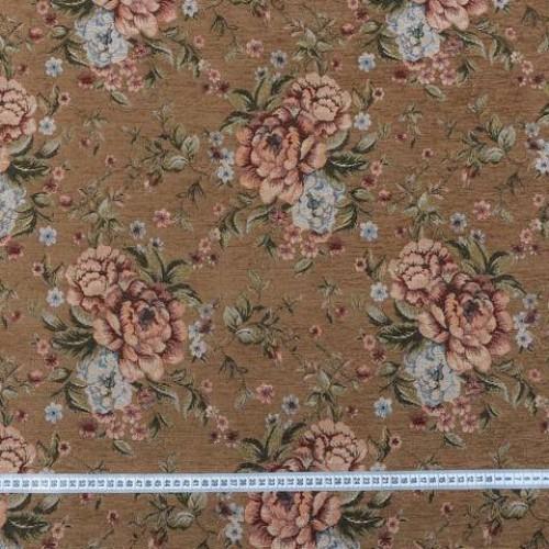 Шенилл-гобелен т.беж розы - 229538