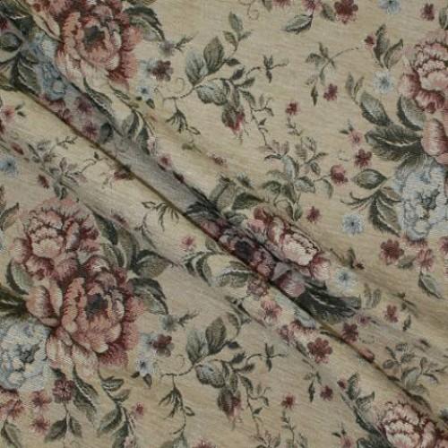 Шенилл-гобелен беж розы - 229542