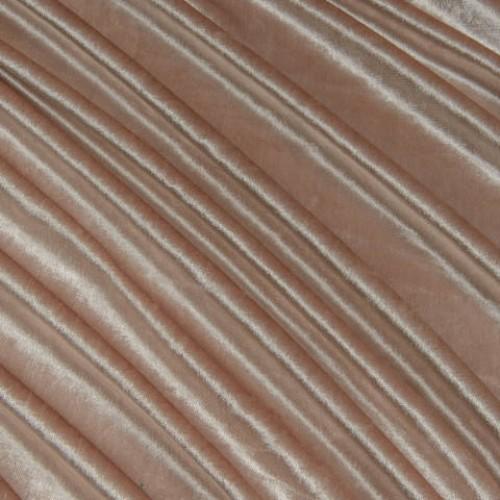Велюр ткань для штор беж-розовый - 257580