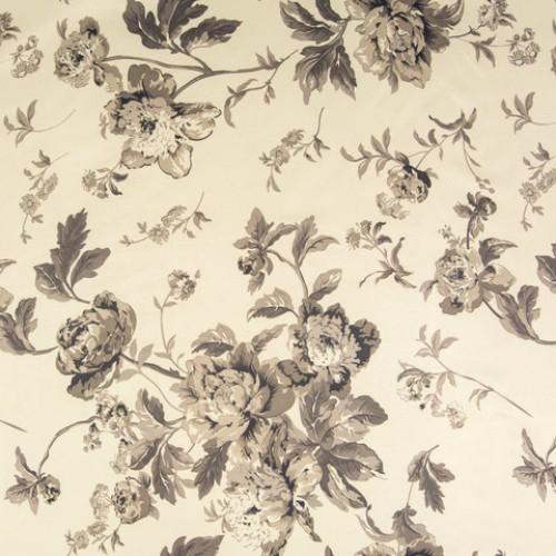 Блэк-аут с рисунком пионы серый - св.серый - 257590