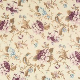 Блэкаут с рисунком цветы фиолет голубойы - 257594