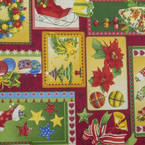 Декоративная новогодняя ткань  - 268648