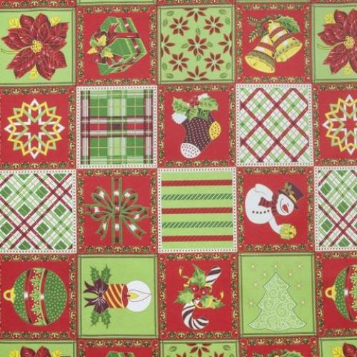 Декоративная новогодняя ткань - 268650