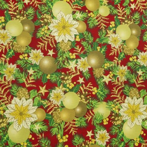 Декоративная новогодняя ткань рождество - 268654