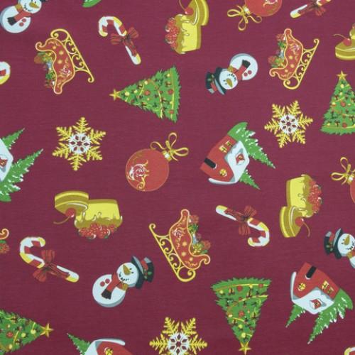 Декоративная новогодняя ткань  - 268660