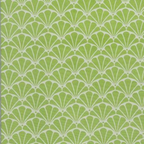 Однотонная хлопковая ткань для штор св.зененое яблоко - 273430