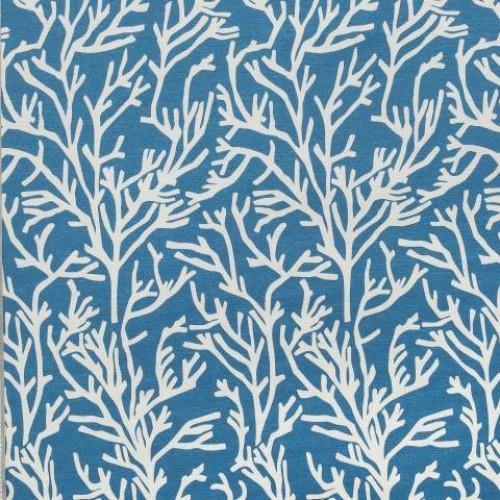 Однотонная хлопковая ткань для штор небесно голубой - 273446