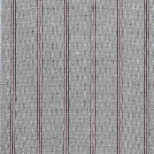Декоративная ткань молочный-т.серый,красный - 276932
