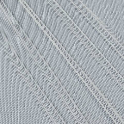 Декоративная сетка ромбик белый - 278270