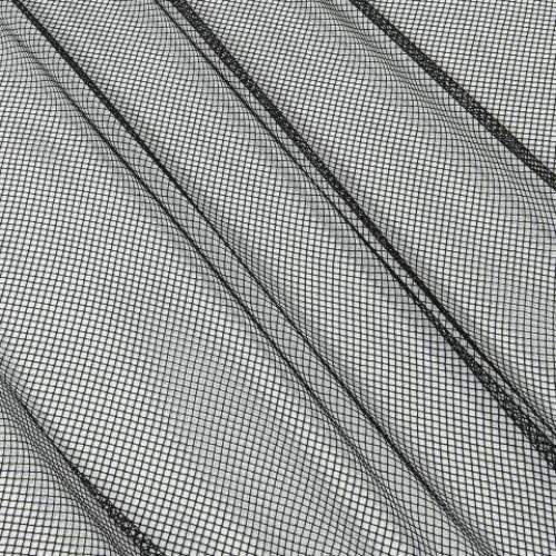 Декоративная сетка ромбик чёрный - 278272
