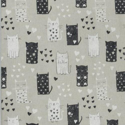 Декоративная ткань   леджгат кошки