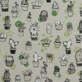 Декоративная ткань кактусы - 279002