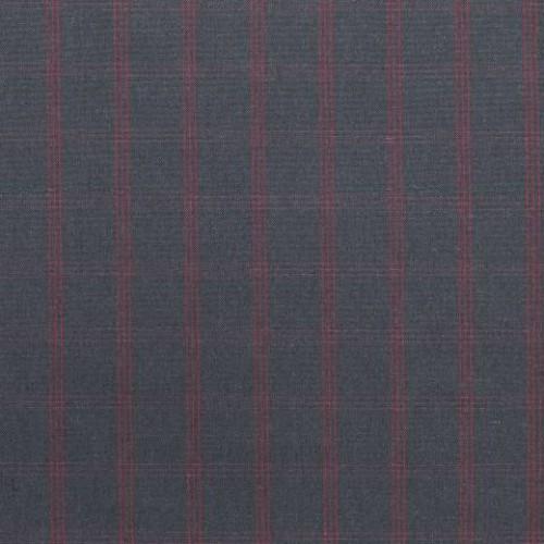 Декоративная ткань графит, красный - 281238