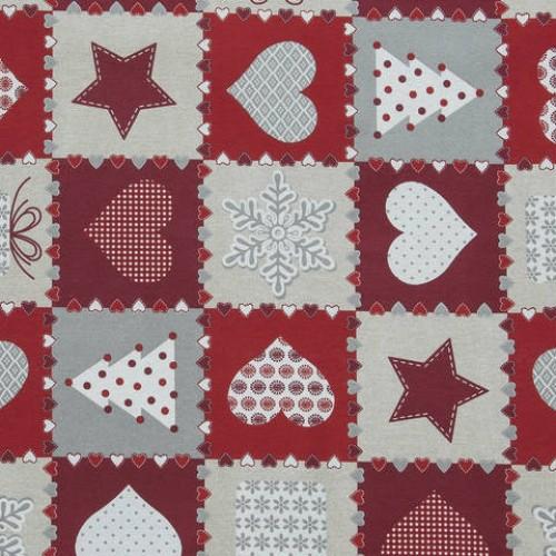 Декоративная новогодняя ткань  - 286540