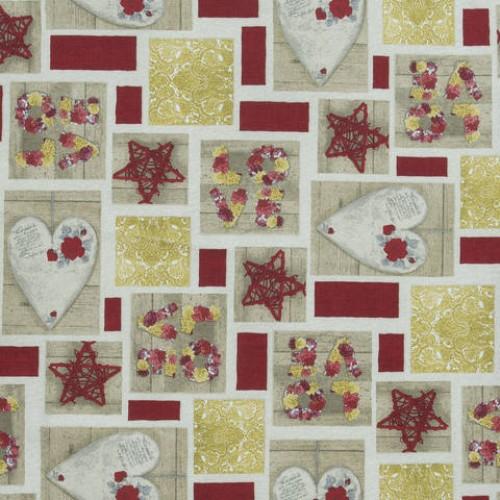 Декоративная новогодняя ткань - 286556