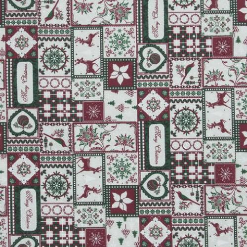 Декоративная новогодняя ткань - 286558