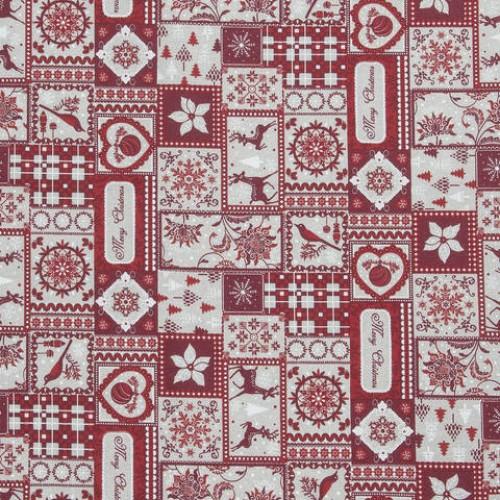 Декоративная новогодняя ткань  - 286644