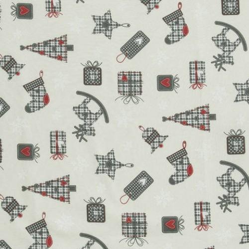 Декоративная новогодняя ткань - 286646